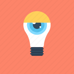 bulb, idea, observation, observe, view icon