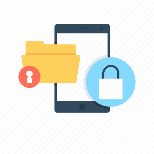 data security, folder protection, mobile data, mobile security, security icon