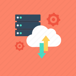 cloud, cloud computing, database, network server, server icon