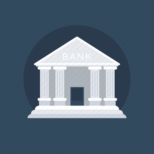 architecture, bank, building, real estate, stock market icon