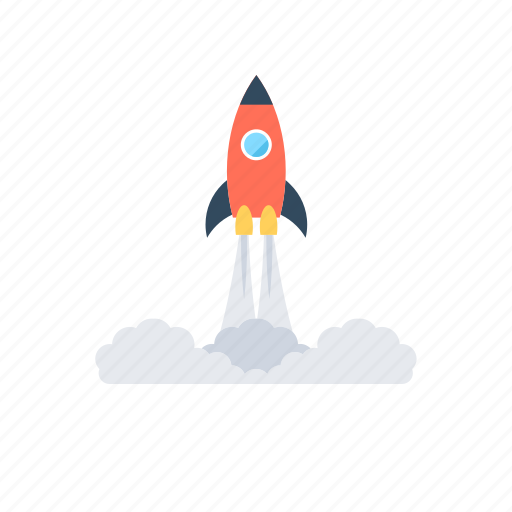 business launch, missile, rocket launch, space rocket, startup icon