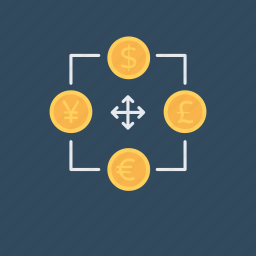 exchange, interchange, money exchange, shift exchange, trade icon