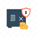 bank safe, bank vault, banking, safe box, vault icon