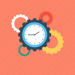 cog, gear, management, schedule, time managment icon