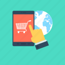 mobile shopping, online shop, shop, shopping icon
