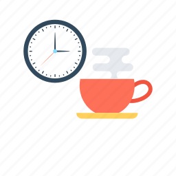 break time, office time, refreshment, tea time, time icon