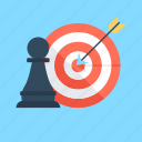 achievement, campaign strategy, dartboard, hit, strategy icon
