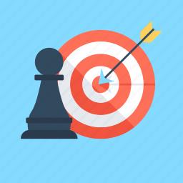 achievement, campaign strategy, dartboard, hit, strategy icon