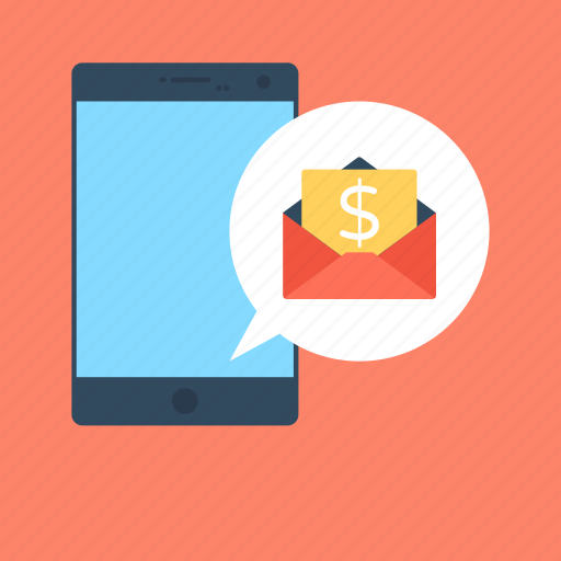 banking app, envelop, m commerce, mobile banking, mobile email icon