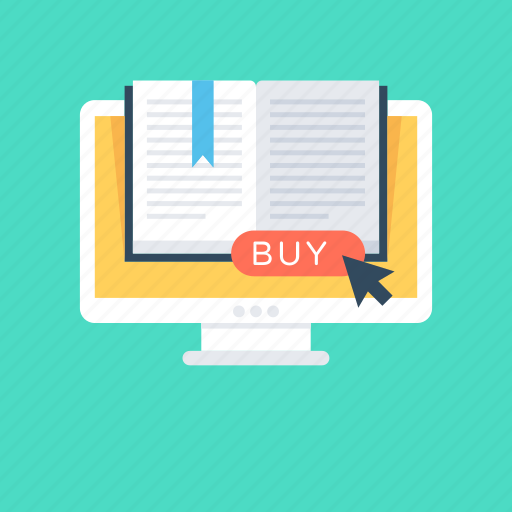 book, book buying, education, online book, online study icon