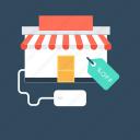 online shopping, shopping, shopping tag, tag, web store icon