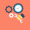 cogwheel, gear, settings, time management icon