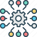 marketing, intelligence, management, customer, solutions, data, business icon