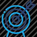 aim, arrow, darts, focus, goal, strategy, target icon