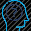 confusion, quandary, uncertain, question, stranger, dilemma, predicament icon