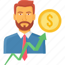 account, accountant, business, businessman, finance, manager, profile icon