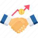 agreement, contract, deal, finance, handshake, partnership, shakehand icon