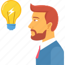 bulb, business, charging, idea, innovate, lightbulb, power icon