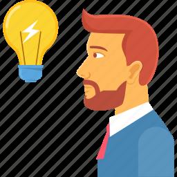 bulb, business, charging, idea, innovate, lightbulb, power icon