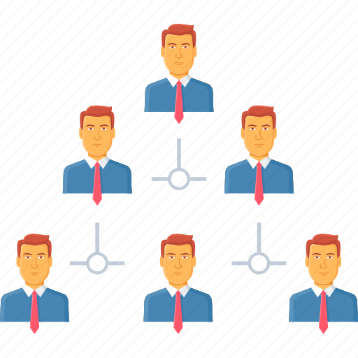 business, hierarchy, management, office, organization, structure, team icon