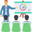 analysis, board, business, diagram, graph, presentation, training icon