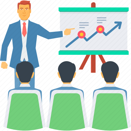 board, chart, graph, growth presentation, marketing, presentation, sales icon