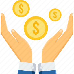 dollar, funds, gesture, guardar, hand, save, save money, savings icon