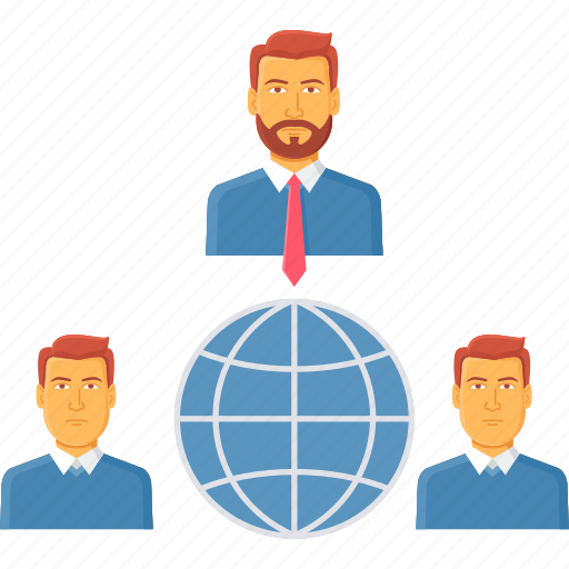 business, client, employee, international, manager, national, web icon