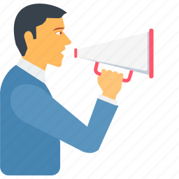 announce, announcement, broadcast, bullhorn, loud, marketing, speak icon