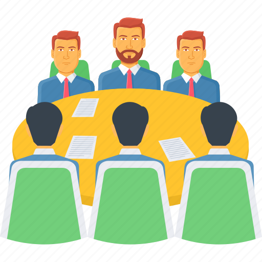 business, company, conference, meet, meeting, office, work icon