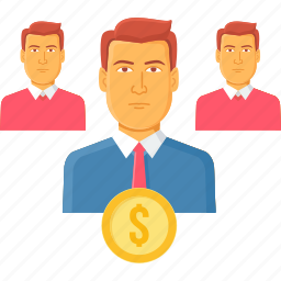 client, dollar, finance, financial, people, team, users icon