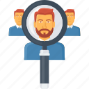 find, locate, magnifier, search, seo, user, view icon