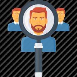 find, locate, magnifier, search, seo, user, view icon