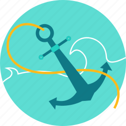 anchor, anchor link, device, internet, metal, vessel, web icon