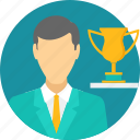 achievement, award, best employee, reward, success, win, winner icon