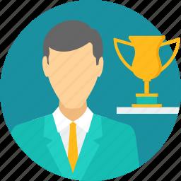 achievement, award, best employee, reward, success, win, winner icon