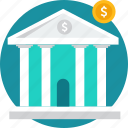 bank, depository, financial institution, stock, stockroom, storehouse, warehouse icon