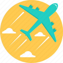 aeroplane, business tour, flight, plane, tour, travel, trip icon