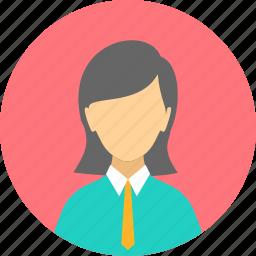 business, business woman, female, loyal, professional, profile, woman icon