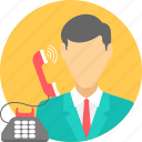 calling, communication, customer care, help, phone, talk, telephone icon
