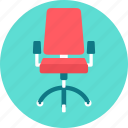 chair, boss, business, boss chair, lead, manage, seat icon