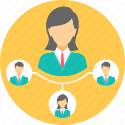 communication, connection, group, hierarchy, network, social icon