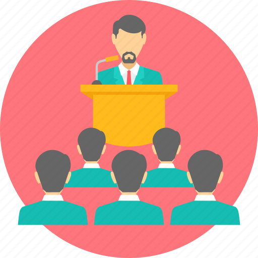 class, communication, conference, lecture, meeting, presentation, speech icon