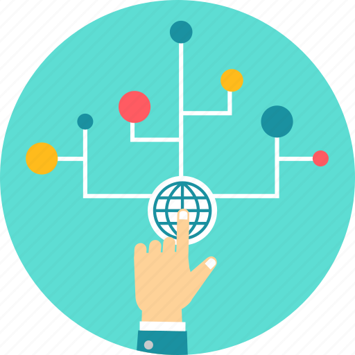 connection, connectivity, network, web, world icon