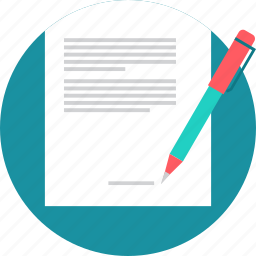 agreement, contract, document, page, paper, sign, signature icon