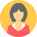 customer, employee, face, female, profile, user, woman icon