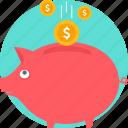 bank, banking, cash, coin, money, savings, piggy bank