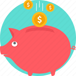 bank, banking, cash, coin, money, piggy bank, savings icon