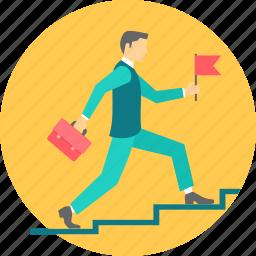 graph, growth, ladder, progress, speed icon