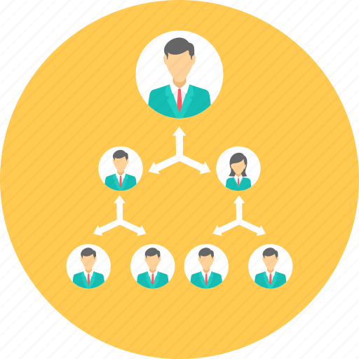 business, connection, hierarchy, mlm, network, organization, structure icon